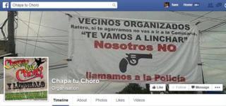 The Facebook page of a Peruvian vigilante group