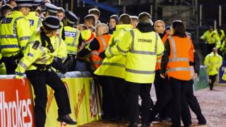Crown trouble at Morton v Motherwell game