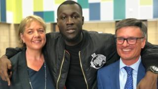 Stormzy with his old teachers