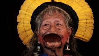 Moja wa viongozi wa kijadi wa kabila la Caiapó