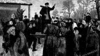1917-жылдын 31-декабрындагы Пишпектин Эмен паркындагы митинг.