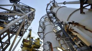 BP ETAP oil platform in the North Sea