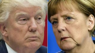 Donald Trump and Angela Merkel have widely differing leadership styles