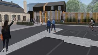 Computer generated image of the new building