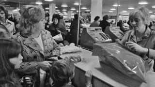 Shopping at Brent Cross in 1976