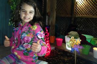 Olivia in her night garden