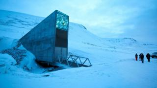 The entrance of the Svalbard Global Seed Vault