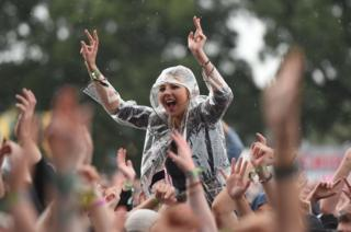 Woman at V Festival