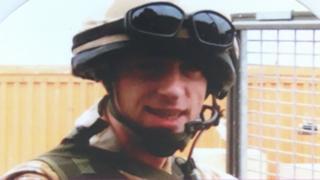 Danny Johnston in combat gear