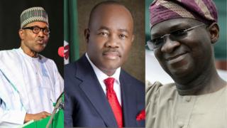 Ministerial list: Buhari, Akpabio, Fashola and oda ministers wey collect big position