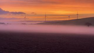 view from Den Brook Wind Farm North Tawton