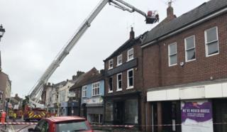 Scene of fire in Darlington