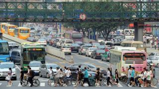 資料圖片:廣州街景