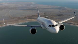 An image of an A320neo aircraft.