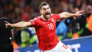 Sam Vokes took his first goal in 12 games for Wales, since scoring against Iceland in March 2014