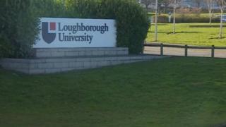Loughborough University sign