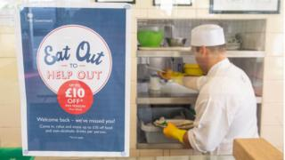 Eat out to help out sign in window