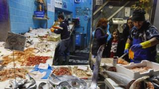Italian fish market