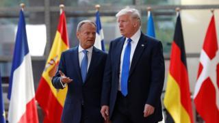 Donald Tusk və Donald Trump