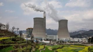 Planta de carbón en China.