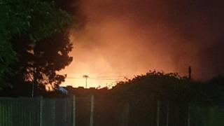 Fire at Pontins site, Hemsby