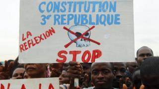 Anti-constitution protesters in Abidjan, Ivory Coast - Saturday 22 October 2016