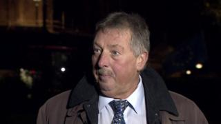 East Antrim MP Sammy Wilson reacted angrily to the government's Brexit text