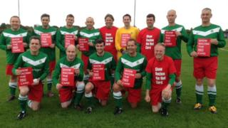 The victorious MPs' team