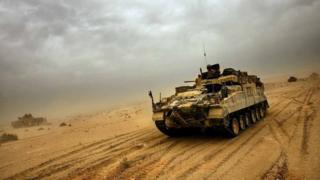 British tank, Iraq, 2004