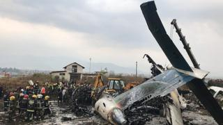 Footage shows plane crash site
