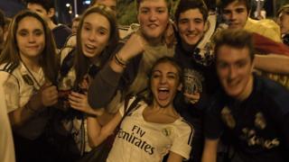 """А так - у Мадриді, біля стадіону """"Сантьяго Бернабеу"""" - домашнього поля """"Реалу"""""""