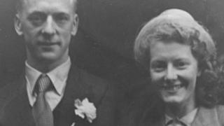 Alf and Betty Robinson on their wedding day in 1950