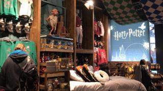 The Harry Potter section at Primark Tottenham Court Road in London