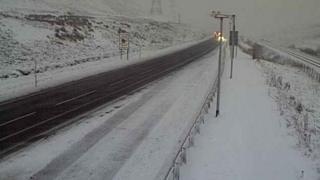 Snow on the A9