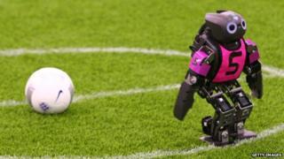 Robot footballer