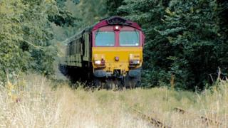 Train tour on a freight line between Aberdare and Hirwaun