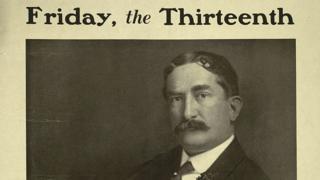 """Parte de la portada de la novela """"Viernes 13"""", de Thomas W. Lawson"""