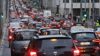 Traffic in Brussels