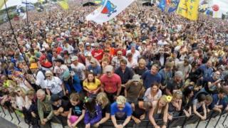 Glastonbury 2017 Pyramid stage audience