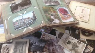 Collection of postcards and photographs