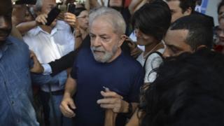 Ex-presidente Lula em abril de 2018