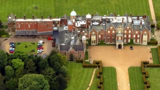 Aerial view of Sandringham House