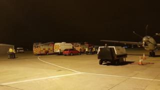 Emergency response at Leeds Bradford Airport