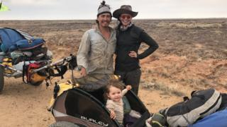 The Jones family on their Australian outback expedition