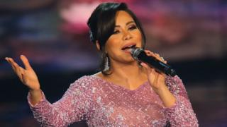 Egyptian singer Sherine Abdel Wahab performs on stage during the final show of Arab Idol on 25 February 2017 in Beirut, Lebanon
