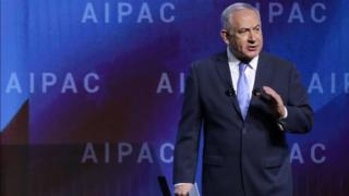 """نخست وزیر اسرائیل گفته است که اگر به گفته او """"نارسایی های کشنده"""" توافق هستهای برجام رفع نشود، دونالد ترامپ تحریم های هسته ای علیه ایران را بر می گرداند"""