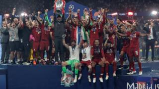 Liverpool with trophy