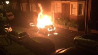 Oxford car fire