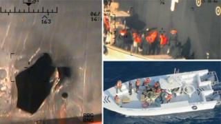 صور جديدة تقول الولايات المتحدة إنها تدين إيران في الهجوم على ناقلتي نفط ببحر عمان