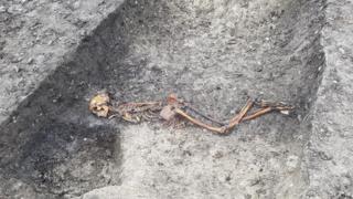 Iron Age skeleton